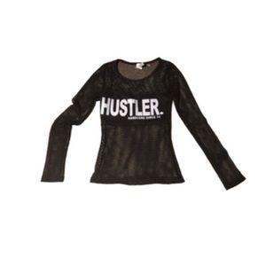 💙NWOT Hustler logo Mesh LS ($10)